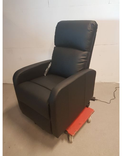 sta op stoel NIEUW zwart skai